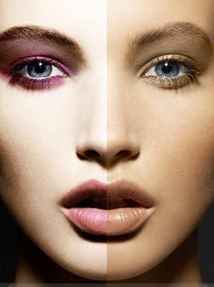 Como evitar a fundação de olhar branco ou não natural