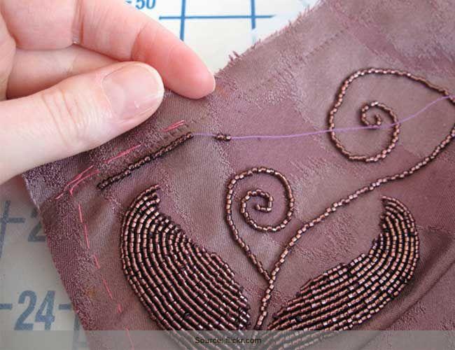 Como costurar grânulos no tecido: tutorial para iniciantes