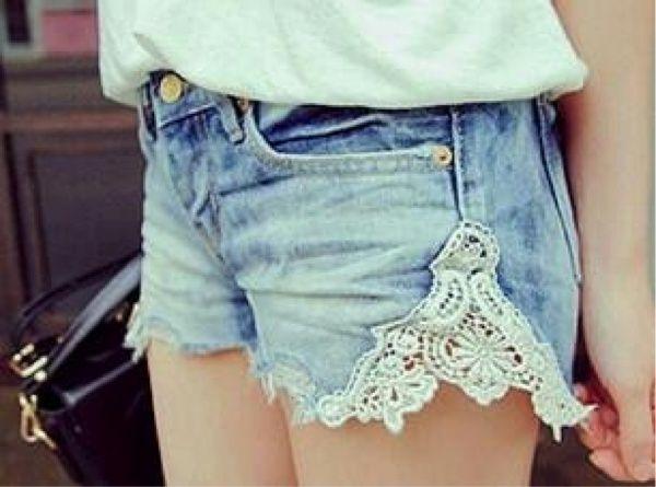 Shorts com Lace