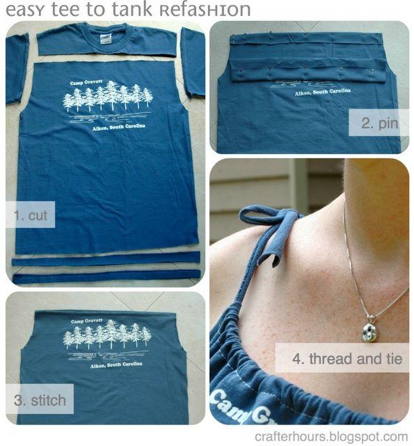 T-shirt refashioned