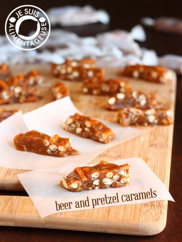 Cerveja e pretzel Caramelos