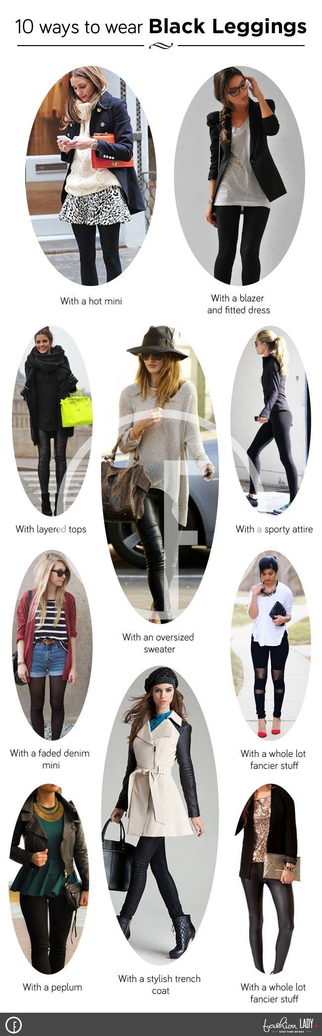 Como usar leggings pretas - estilo-los em 10 maneiras interessantes!