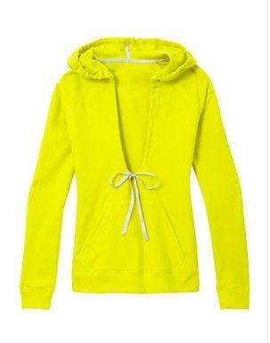 Sporty Fashion Trend, camisola desportiva amarelo brilhante