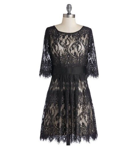 Loja The Golden Globe Style - ModCloth rendas vestido de noite preto
