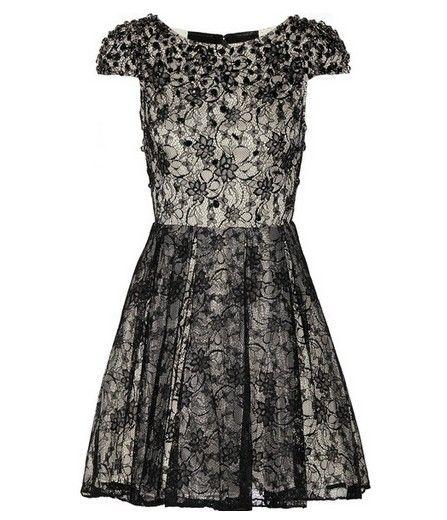 Loja The Globe Estilo de Ouro - Alice + Olivia cristal preto rendas embelezado vestido de noite