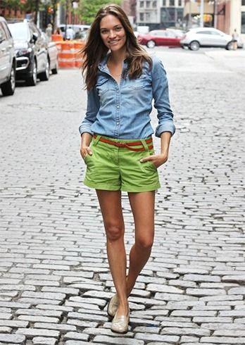 Altos calças de brim shorts de cintura