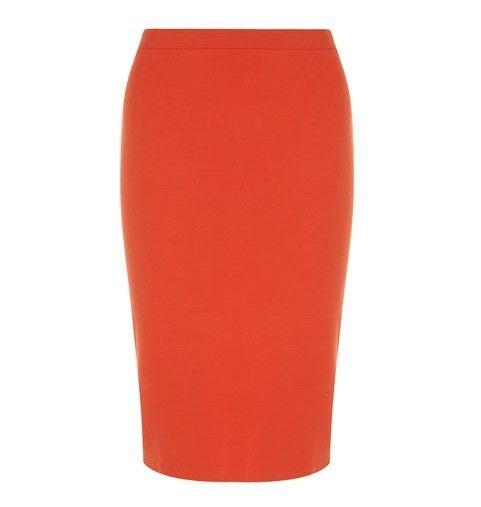 Dorothy Perkins embelezado de cristal saia lápis na laranja da tangerina para jóia-tom ideias primavera roupa