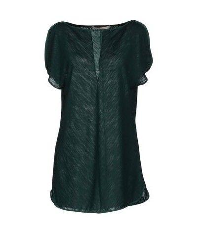 Jucca top de seda no verde esmeralda para a jóia-tom ideias primavera roupa