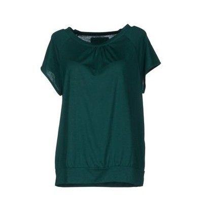 Sessun top de seda no verde esmeralda para a jóia-tom ideias primavera roupa