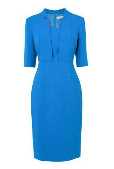 Como usar vestido equipada azul de kate middleton para uma aparência elegante