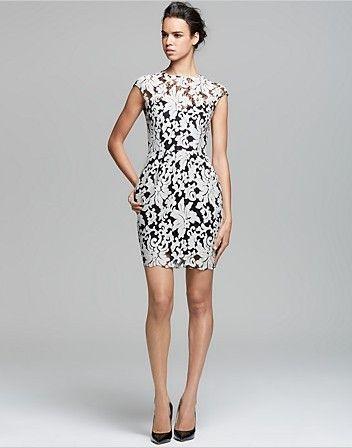Dolce Vita Dress - Verie bordado vestido de renda inverno branco