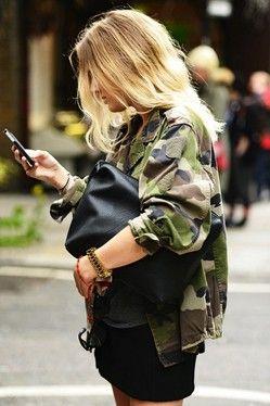 inspiração tendência militar para a Primavera de 2014, jacket camo