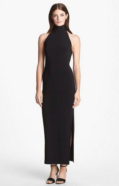 Kamlikulture Turtleneck preto Jersey vestido ($ 92)