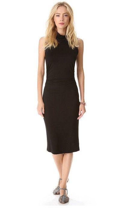 Kain Etiqueta alta Neck Black Dress Brock ($ 46, originalmente $ 154)