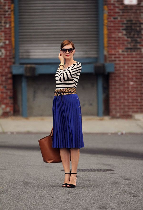 Idea Primavera Outfit com saia plissada