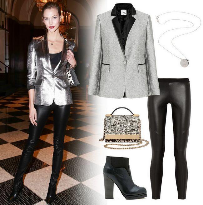 Como usar estilo metálico brilhante para a primavera de 2014 - aprender com roupa blazer prata karlie kloss `