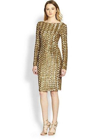 Saks Fifth Avenue vestido de paetês