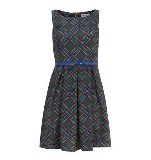 Dorothy Perkins 50 Tartan verde`S Flare Dress for a Party-ready Look in Spring 2014