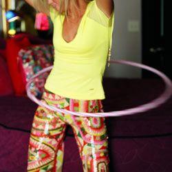 Hula hoop sua maneira de aptidão
