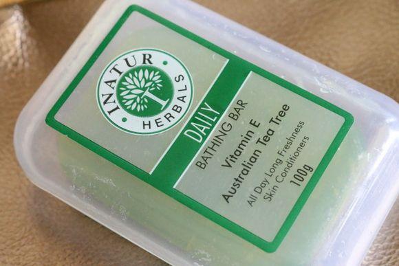 Herbals inatur chá australiano óleo da árvore do banho diário avaliação bar