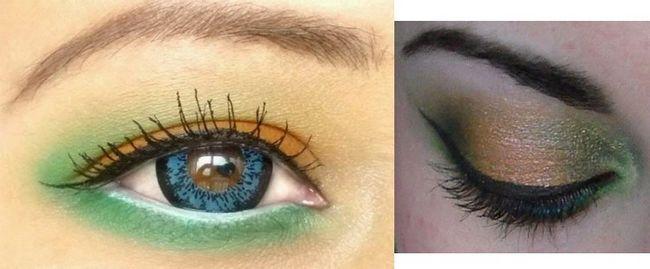 Maquiagem dos olhos para o Dia da Independência