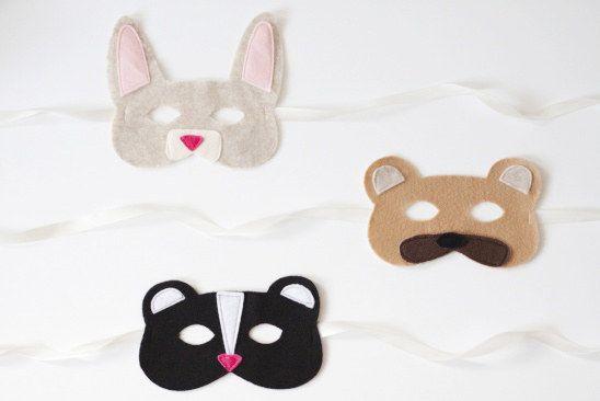 Máscaras de animais DIY