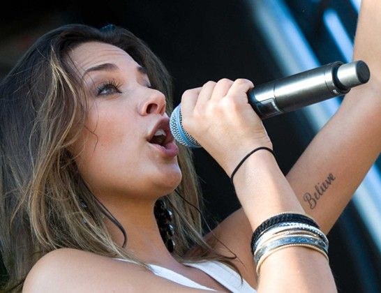 Jana Kramer`s Tattoos - Lettering Tattoo on Arm