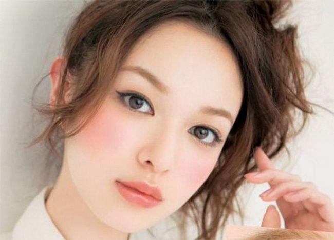 Japonês maquiagem de noiva Lip
