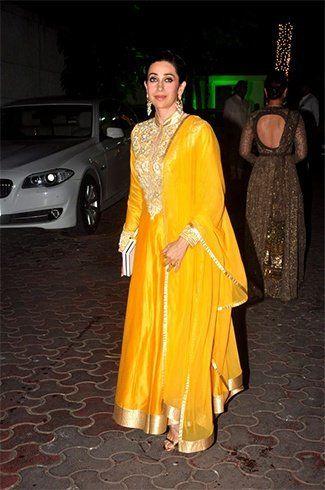 Karisma Kapoor na festa de Shilpa Shetty Diwali
