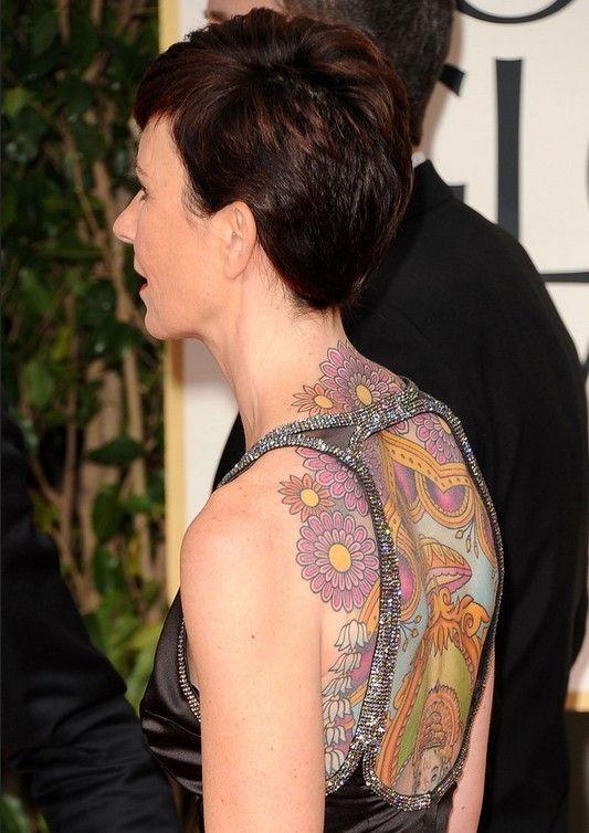 Tatuagens de kate mestitz - tatuagem desenho artístico nas costas
