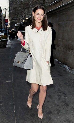 Katie holmes semana de moda olha para a sua nova inspiração roupa