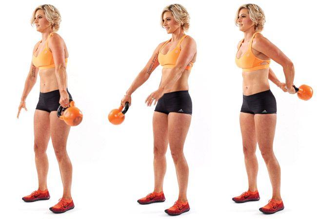 Em todo o mundo - exercício kettlebell - IMAGEM - Mulheres`s Health and Fitness magazine