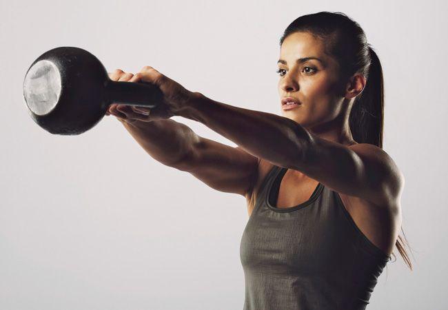 Kettlebell exercícios para perda de gordura