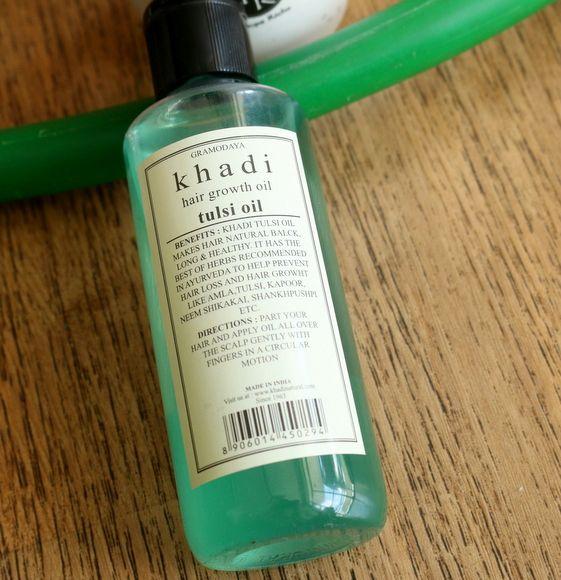 Cabelo tulsi khadi avaliação óleo herbal