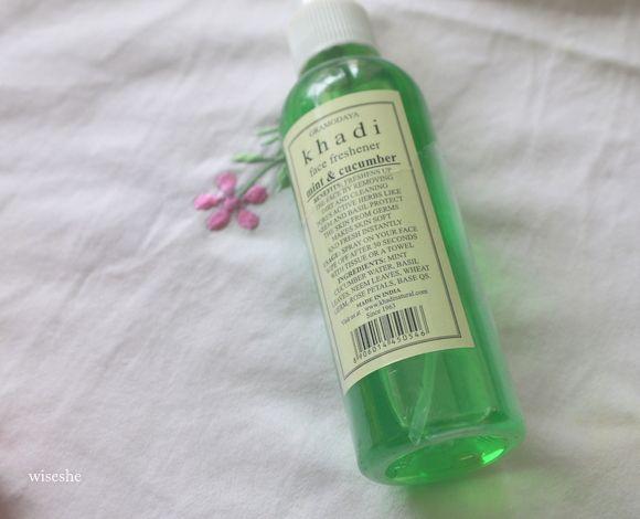 Mint khadi e revisão pepino rosto purificadores de spray - santo graal