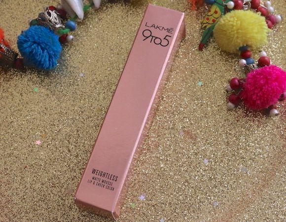 Lakme 9 a 5 mousse leve rosa de pelúcia lábio e bochecha tonalidade avaliação