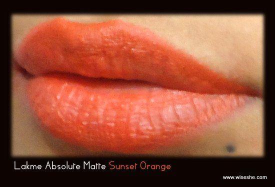 Lakme do sol alaranjado Lip amostra