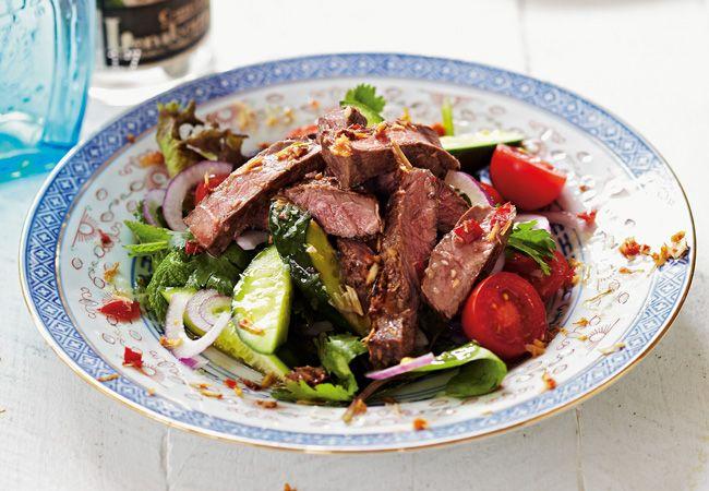 Lemongrass salada de carne