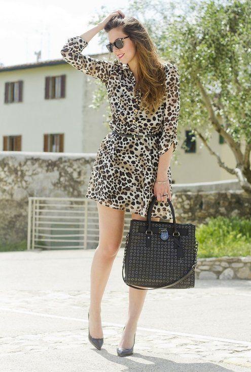 Estampas de leopardo para rua estilo elegante é em 2014