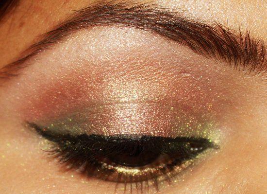 MAC composição dourada de oliva pigmento olho + ouro maquiagem pigmento olho verde