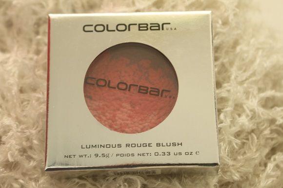 Luminosos rouge corar colorbar cosméticos - revisão & swatch