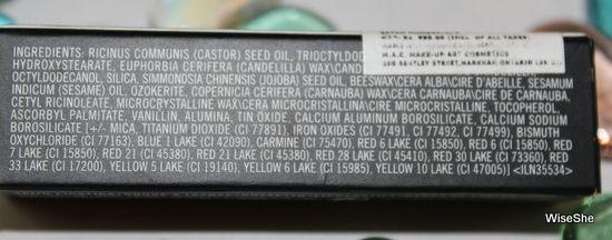 mac avaliação batom galho + mac lista de ingredientes batom