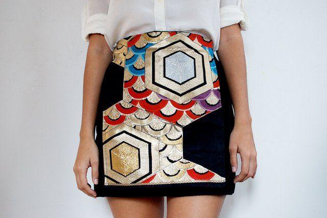 Preto Pencil Skirt