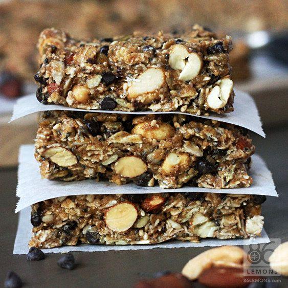 Chocolate Peanut Butter Breakfast Barras