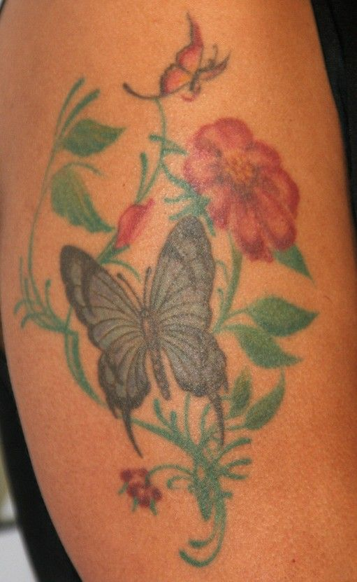 Marsha Ambrosius` Tattoos - Flower Tattoo