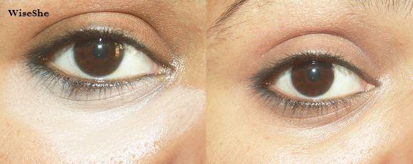 Maybelline idade instantânea corretivo de rebobinar antes e depois