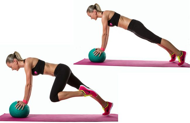 Alpinistas Medicine Ball Mountain - Mulheres`s Health & Fitness