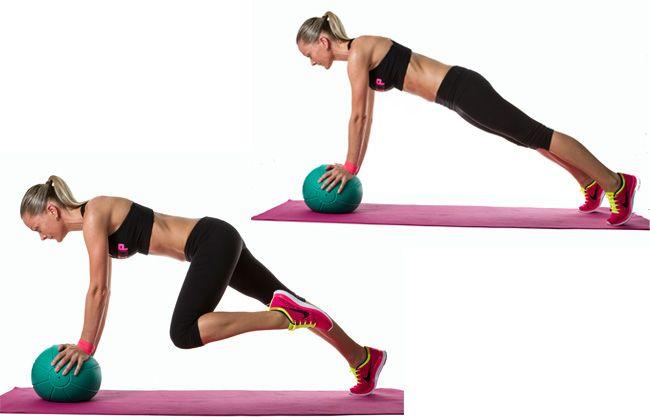 Alpinistas Medicine Ball Mountain - Mulheres`s Health & Fitness
