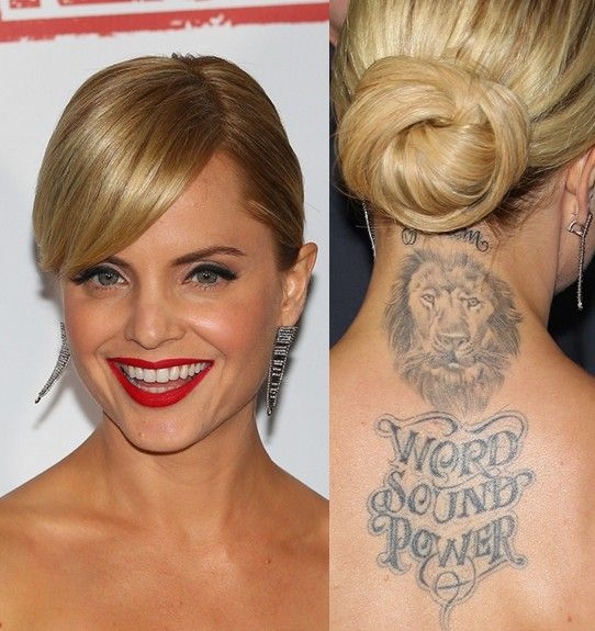 Mena Suvari Tattoos - Tattoo animal na parte superior das costas