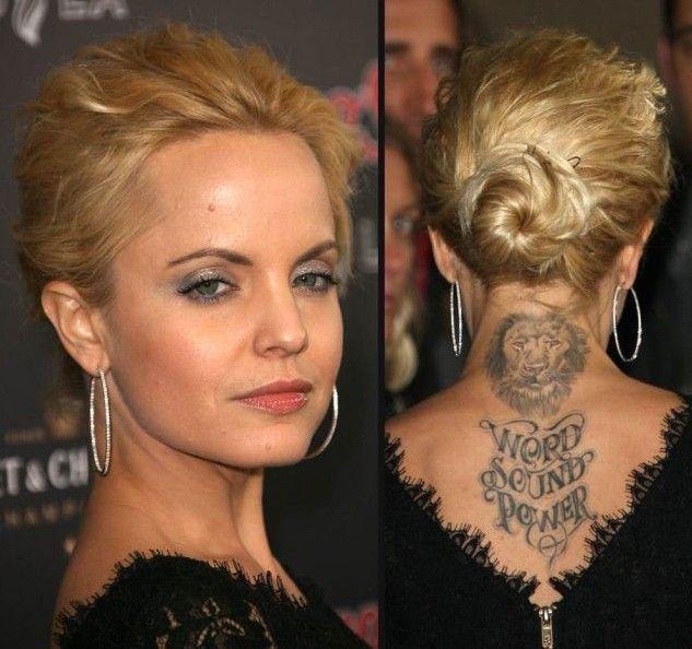 Mena Suvari Tatuagens - Tatuagem na parte superior das costas